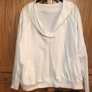Cacique Lane Bryant white sweatshirt NWOT
